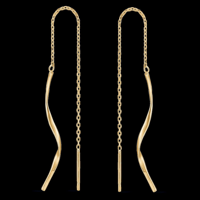 14 karat guld ørehænger med snoet guld tråd