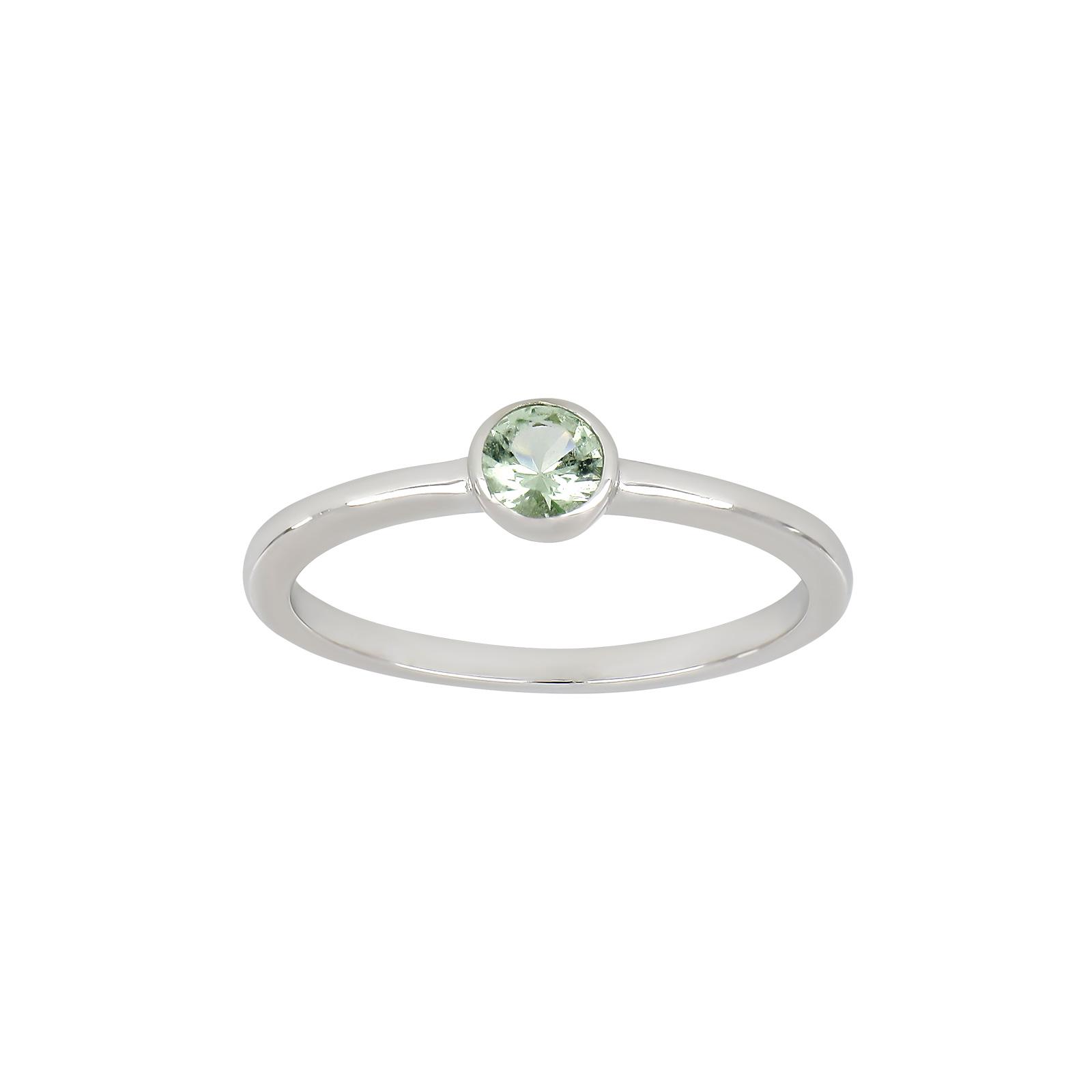 Rhodineret sølv ring med farvede zirkon i rørfatning fra Joanli Nor