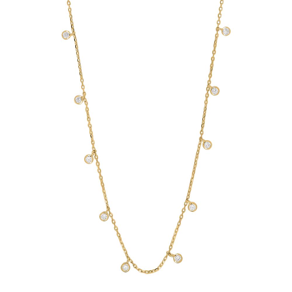 Forgyldt sølv halskæde fra Joanli Nor model GiaNor