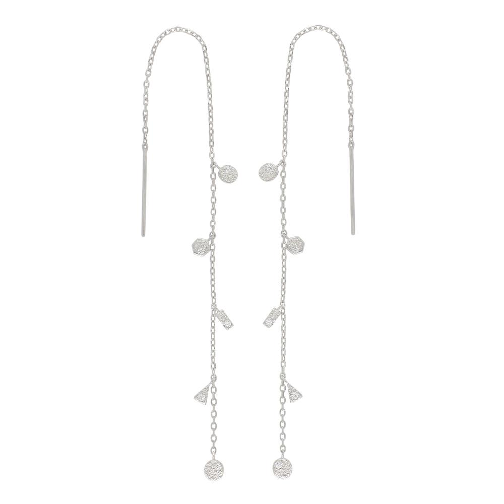 Rhodineret sølv ørehænger fra Joanli Nor model GwenNor