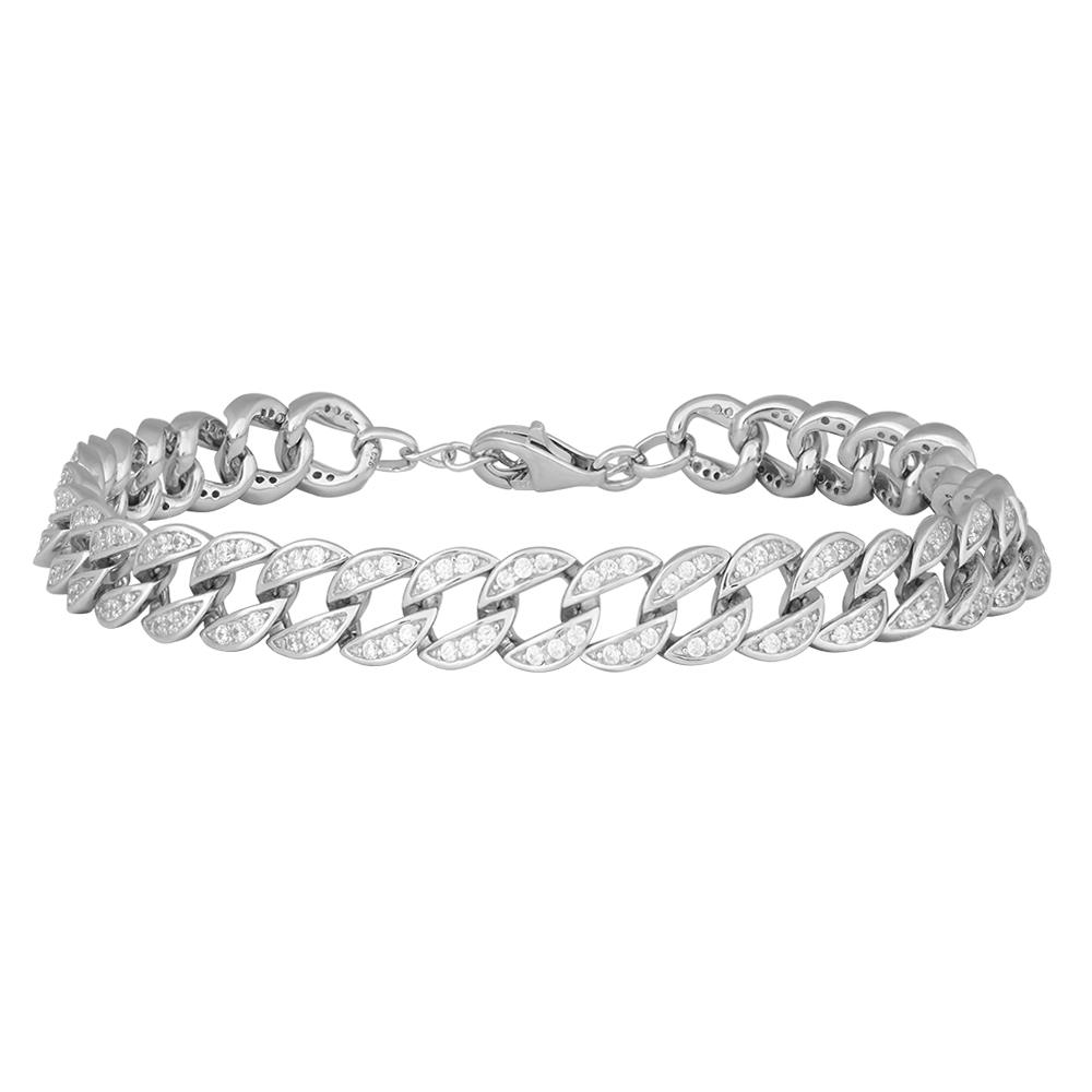 Rhodineret sølv armbånd EllenNor med zirkoner