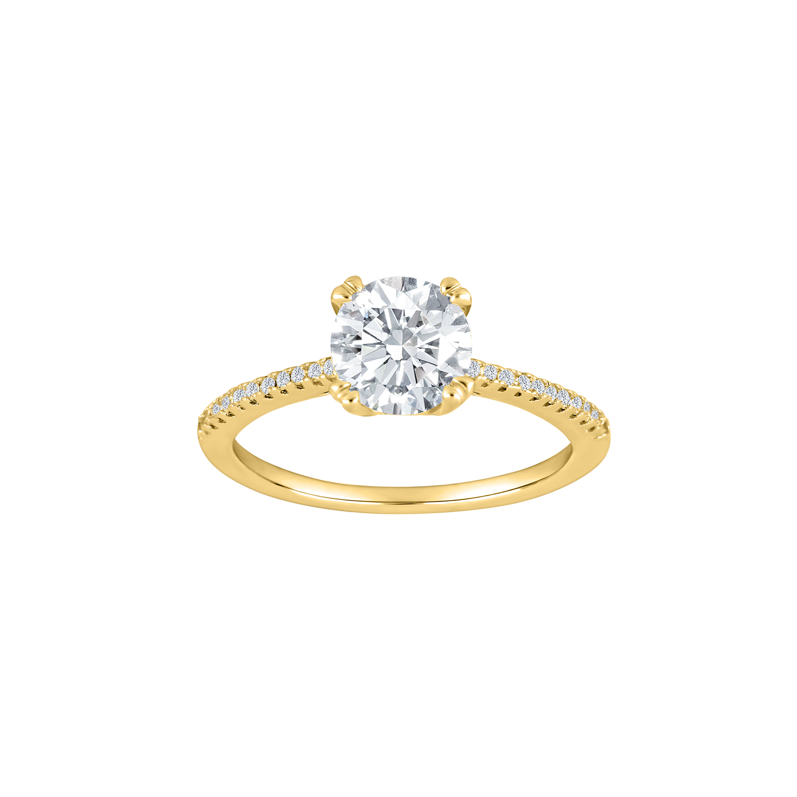Ellenor ring fra Joanli Nor forgyldt sølv med zirkoner