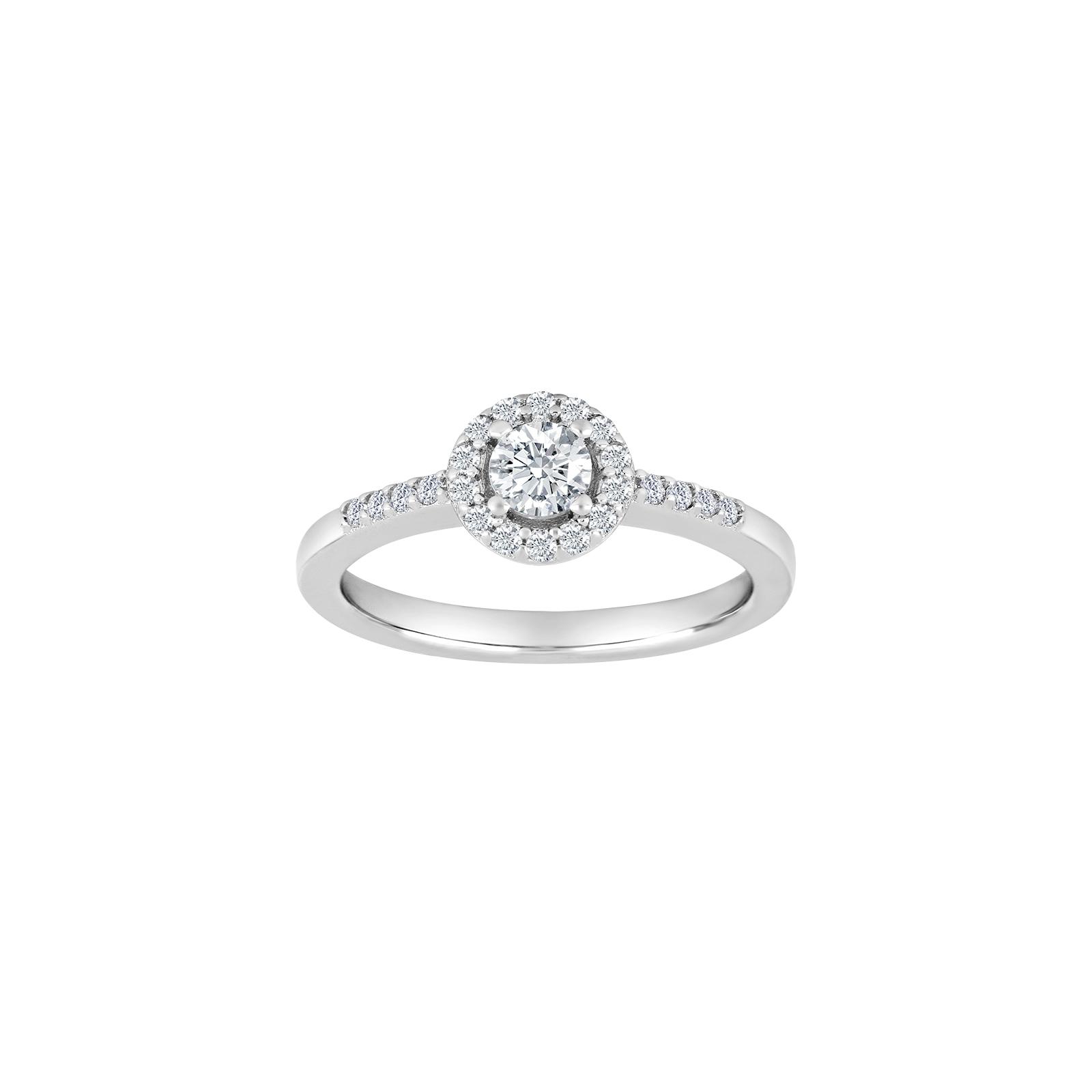 Rhodineret sølv ring med zirkoner.