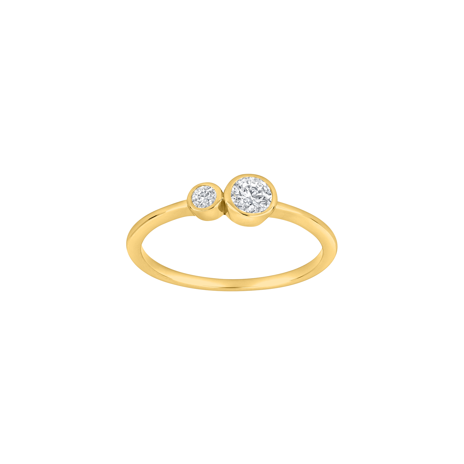 Forgyldt sølv ring med zirkoner IdaNor fra Joanli Nor