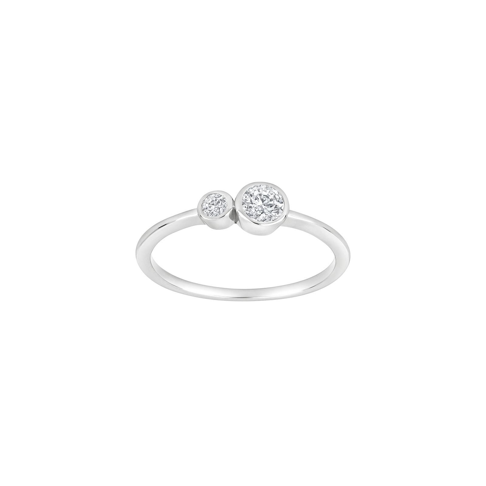 Rhodineret sølv ring med zirkoner IdaNor fra Joanli Nor