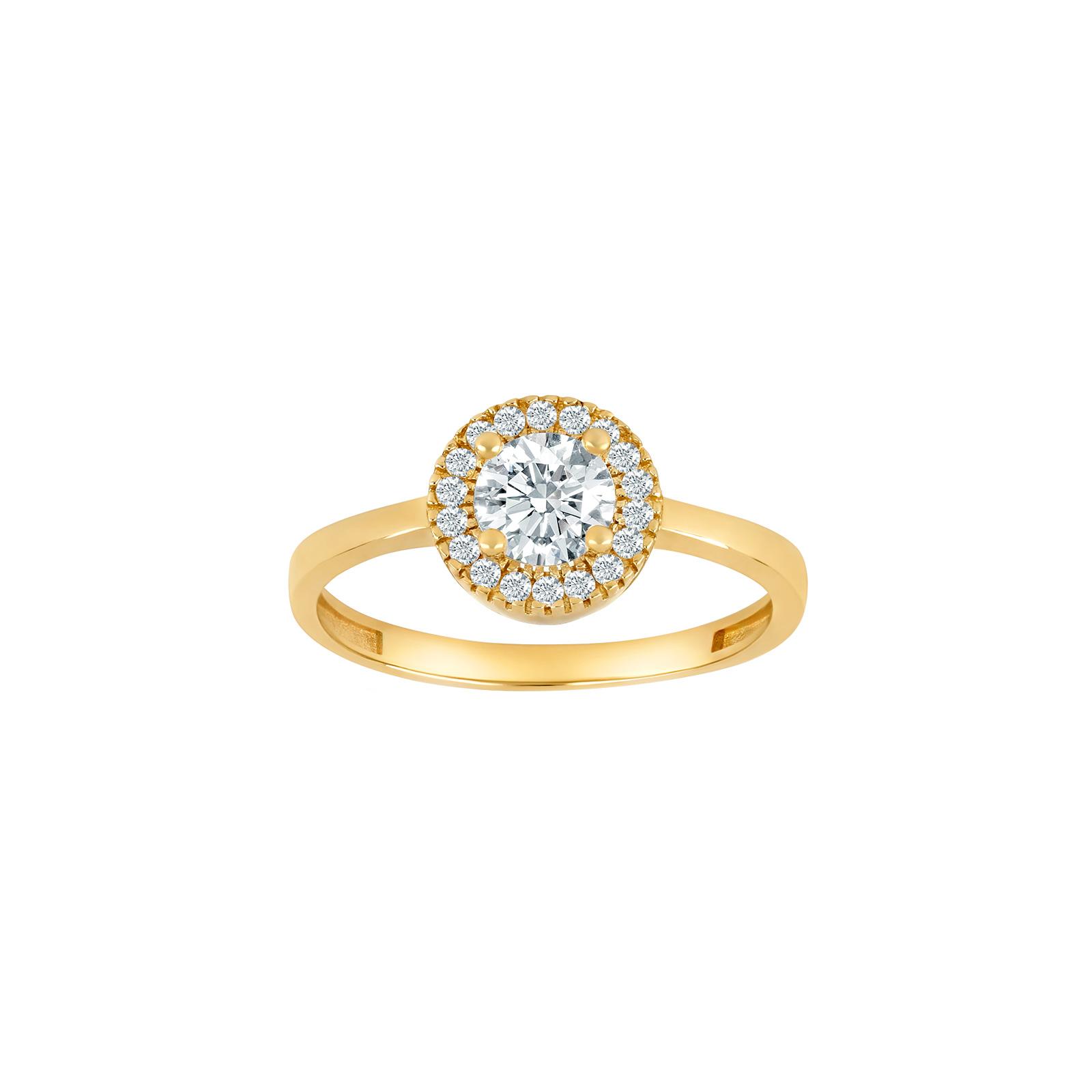 8 karat guld ring med zirkoner fra Siersbøl
