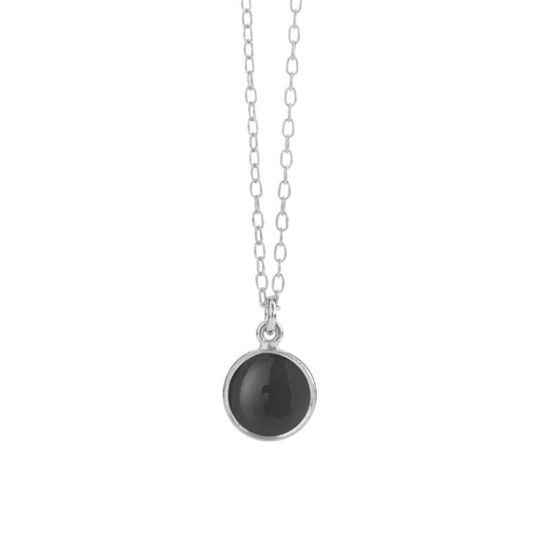 sølv halskæde med sort onyx fra Susanne Friis Bjørner