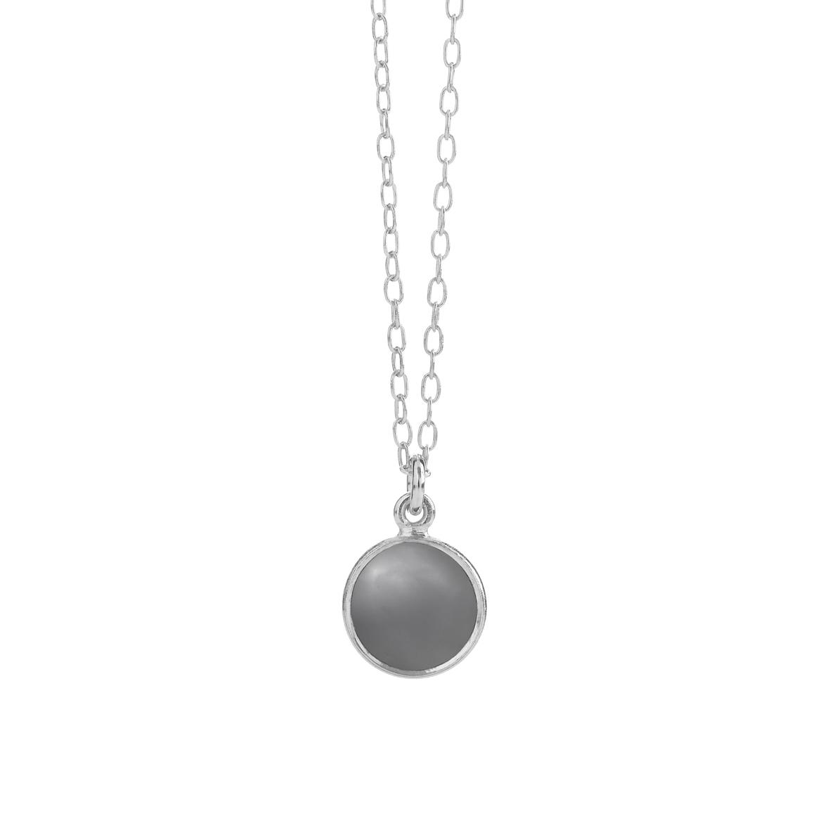 sølv halskæde fra Susanne Friis Bjørner med grå agat
