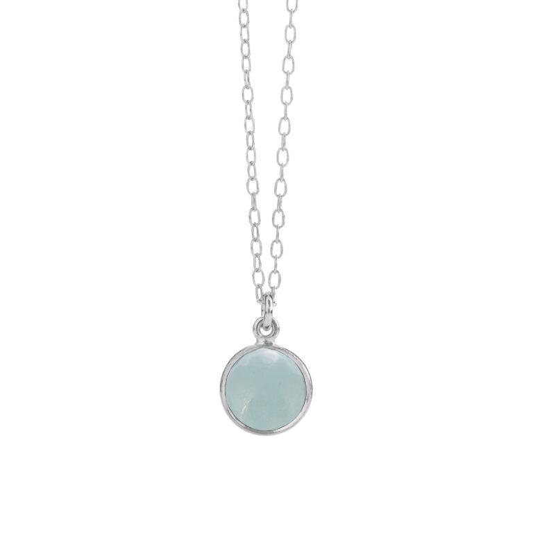 halskæde med lys blå krystal fra Susanne Friis Bjørner