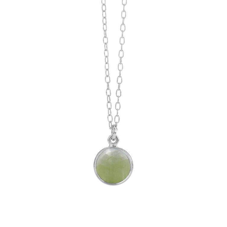 sølv halskæde med Phrenit fra Susanne Friis Bjørner